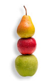 Compare apples and pears. Conceptual shot - you cannot compare apples with pears royalty free stock photo