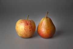 Compare. Do not compare apples with pears royalty free stock photography