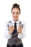 Compare the two mobile phones Royalty Free Stock Image