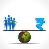 Compare workforce and money concept Royalty Free Stock Photo