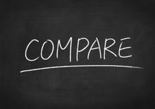comparez image stock