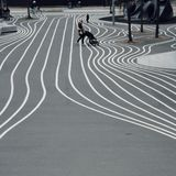 Comparez le parc de parc, moderne et de landart à Copenhague photo stock