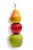 Comparez les pommes et les poires Photo libre de droits