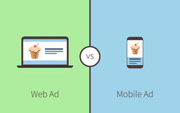 Comparing of advertising royalty free illustration