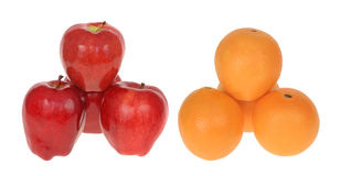 Comparing Apples to Oranges Royalty Free Stock Images