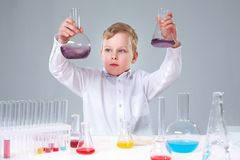 Comparing liquids Royalty Free Stock Images