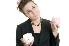 Comparing savings Royalty Free Stock Image