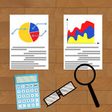 Comparing statistics vector. Comparing statistics. Vector infographic analytics, accounting economy illustration Stock Photography