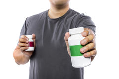 Comparing Supplement Brands Stock Photos