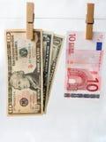 Comparison of exchange rates Stock Photos