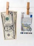 Comparison of exchange rates Stock Photo