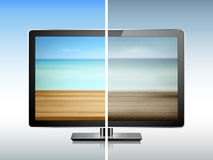Comparison of TV resolution Royalty Free Stock Photo