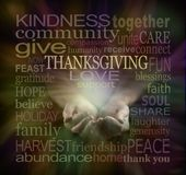Comparta su amor en la acción de gracias Fotos de archivo
