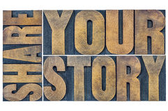 Comparta su extracto de la palabra de la historia foto de archivo