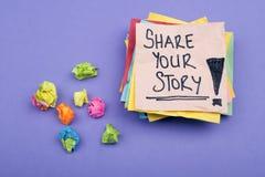 Comparta su historia Imagen de archivo libre de regalías