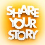 Comparta su historia Foto de archivo