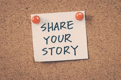 Comparta su historia foto de archivo libre de regalías