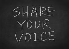 Comparta su voz libre illustration