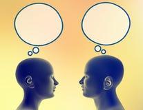 Compartecipazione dei loro pensieri Immagini Stock