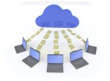 Compartecipazione di dati della nube Fotografie Stock