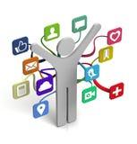 Compartecipazione sociale di media Fotografie Stock Libere da Diritti