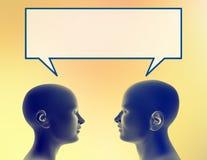 Compartilhando de um pensamento ilustração do vetor