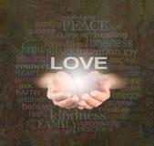 Compartilhando do amor com você imagens de stock