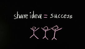 Compartilhe da ideia ao sucesso Foto de Stock Royalty Free