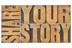 Compartilhe de sua história Fotos de Stock Royalty Free