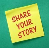 Compartilhe de sua história Foto de Stock Royalty Free