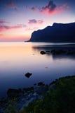 Compartiment après le coucher du soleil Image libre de droits