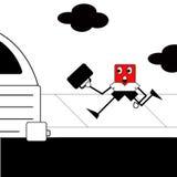 Compartiment chassant l'autobus illustration libre de droits