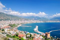 Compartiment d'Alanya. La Turquie Photos libres de droits