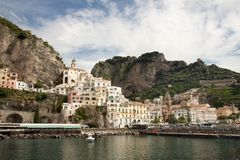 Compartiment d'Amalfi Italie Photographie stock