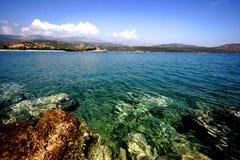 Compartiment d'Istron, côte nordique de Crète image stock