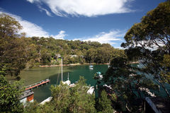 Compartiment dans le pittwater photo stock