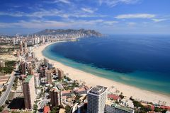 Compartiment de Benidorm photos stock