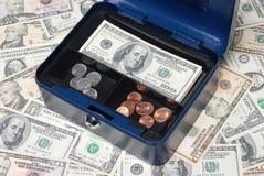 Compartiment de coffre-fort d'argent comptant Photographie stock