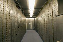 Compartiment de coffre-fort de chambre forte de côté Images stock