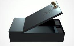 Compartiment de coffre-fort noir illustration de vecteur