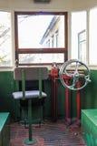 Compartiment de conducteur du tram s. Lisbonne. Portugal Image stock