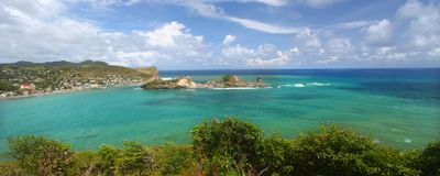 Compartiment de Dennery - saint Lucia Images libres de droits