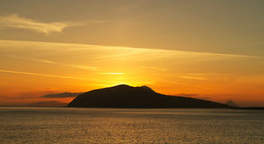 Compartiment de Dingle au coucher du soleil Image stock