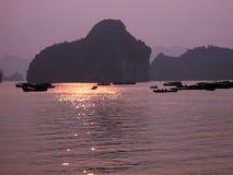 Compartiment de Halong Photographie stock
