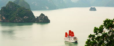 Compartiment de Halong Photographie stock libre de droits