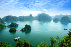 Compartiment de Halong au Vietnam Images libres de droits