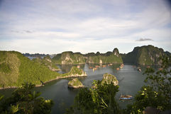 Compartiment de Halong, Vietnam image stock
