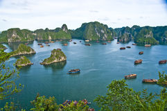 Compartiment de Halong, Vietnam photos libres de droits