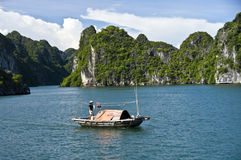Compartiment de Halong, Vietnam Images stock
