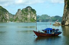 Compartiment de Halong, Vietnam Image libre de droits